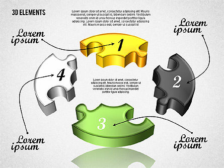 Puzzle Pieces, Slide 3, 01820, Puzzle Diagrams — PoweredTemplate.com