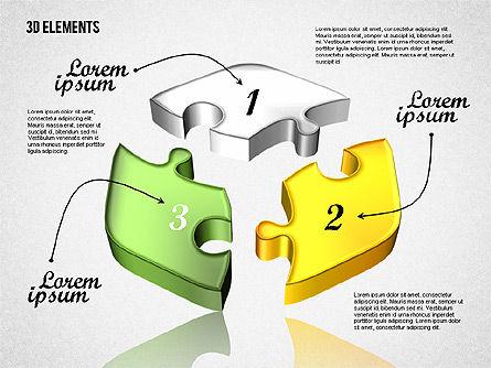 Puzzle Pieces, Slide 5, 01820, Puzzle Diagrams — PoweredTemplate.com