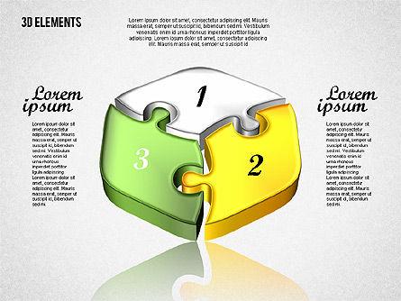 Puzzle Pieces, Slide 6, 01820, Puzzle Diagrams — PoweredTemplate.com