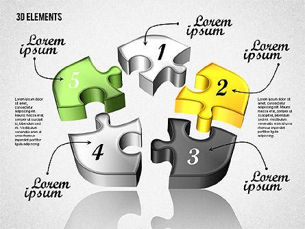 Puzzle Pieces, Slide 7, 01820, Puzzle Diagrams — PoweredTemplate.com