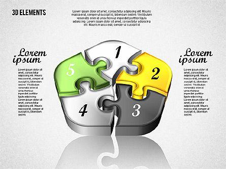 Puzzle Pieces, Slide 8, 01820, Puzzle Diagrams — PoweredTemplate.com
