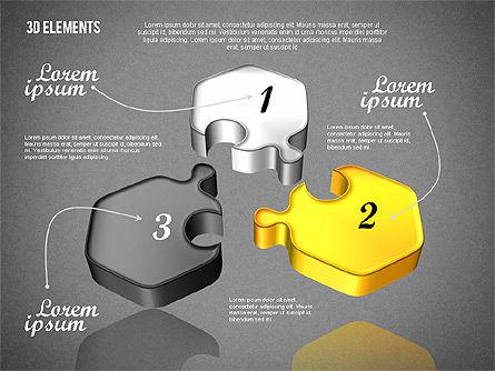 Puzzle Pieces, Slide 9, 01820, Puzzle Diagrams — PoweredTemplate.com