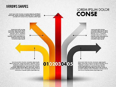Arrows Shapes Set, Slide 4, 01825, Shapes — PoweredTemplate.com