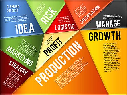 Production Planning Pieces Concept, Slide 10, 01827, Stage Diagrams — PoweredTemplate.com