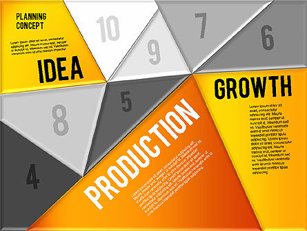 Production Planning Pieces Concept, Slide 13, 01827, Stage Diagrams — PoweredTemplate.com