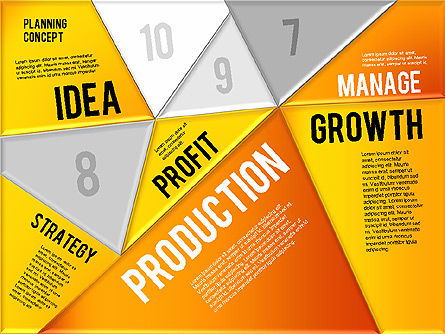 Production Planning Pieces Concept, Slide 16, 01827, Stage Diagrams — PoweredTemplate.com