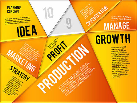 Production Planning Pieces Concept, Slide 18, 01827, Stage Diagrams — PoweredTemplate.com