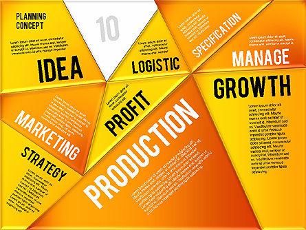 Production Planning Pieces Concept, Slide 19, 01827, Stage Diagrams — PoweredTemplate.com