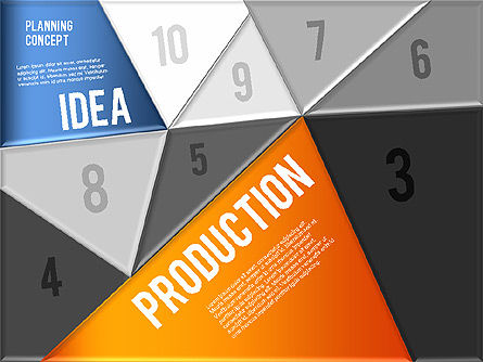 Production Planning Pieces Concept, Slide 2, 01827, Stage Diagrams — PoweredTemplate.com