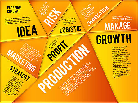 Production Planning Pieces Concept, Slide 20, 01827, Stage Diagrams — PoweredTemplate.com