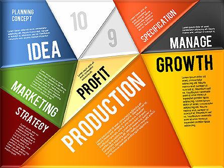 Production Planning Pieces Concept, Slide 8, 01827, Stage Diagrams — PoweredTemplate.com