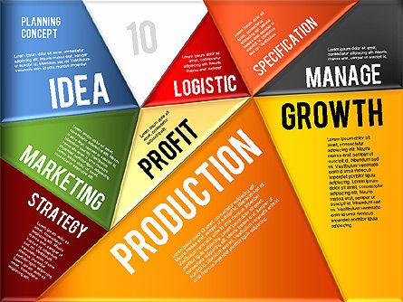 Production Planning Pieces Concept, Slide 9, 01827, Stage Diagrams — PoweredTemplate.com