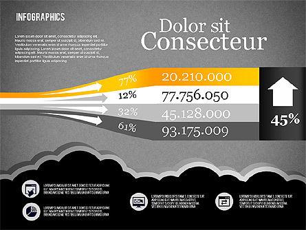 Infographics Diagram Set, Slide 9, 01829, Business Models — PoweredTemplate.com