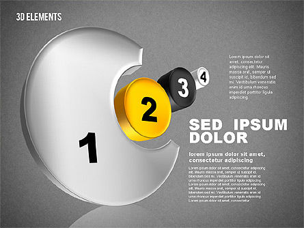 3D Sets, Slide 11, 01831, Shapes — PoweredTemplate.com