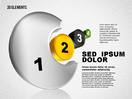 3D Sets, Slide 3, 01831, Shapes — PoweredTemplate.com