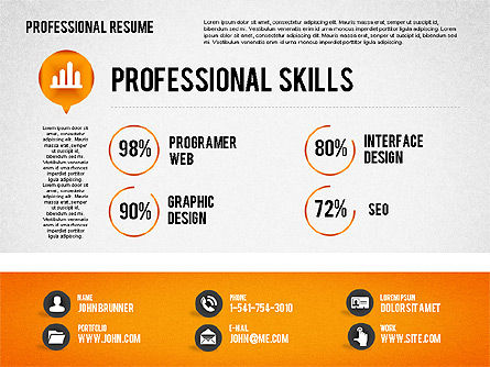 Professional Resume Template, Slide 3, 01833, Presentation Templates — PoweredTemplate.com