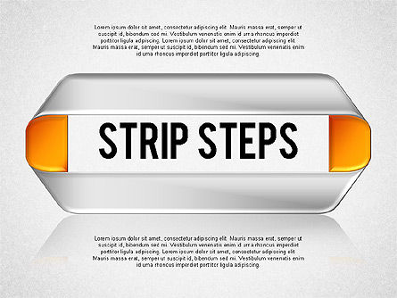 Mobius Strip Steps, 01834, Shapes — PoweredTemplate.com