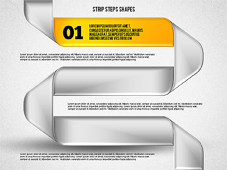 Mobius Strip Steps, Slide 2, 01834, Shapes — PoweredTemplate.com
