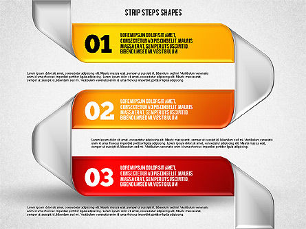 Mobius Strip Steps, Slide 4, 01834, Shapes — PoweredTemplate.com