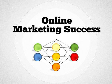 Organizational Charts: Online Marketing Success Diagram #01837