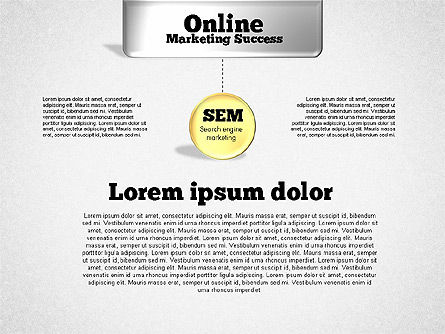 Online Marketing Success Diagram, Slide 2, 01837, Organizational Charts — PoweredTemplate.com