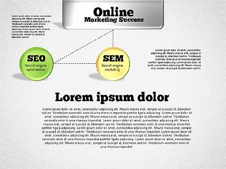 Online Marketing Success Diagram, Slide 3, 01837, Organizational Charts — PoweredTemplate.com