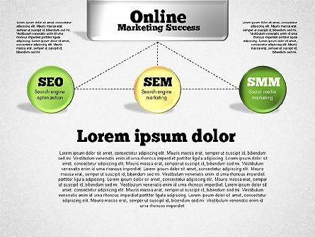 Online Marketing Success Diagram, Slide 4, 01837, Organizational Charts — PoweredTemplate.com