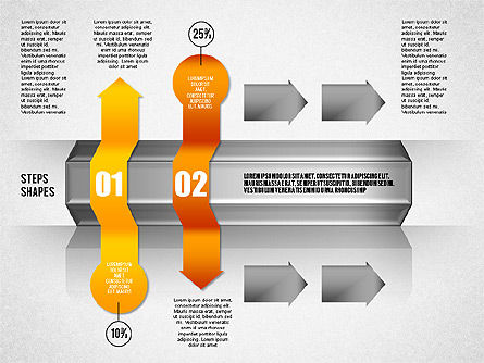 4 Steps Process Diagram, Slide 2, 01838, Process Diagrams — PoweredTemplate.com