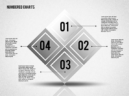 Numbered Shapes in Gray Color Slide 4