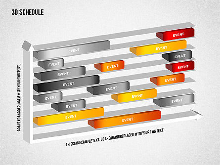 Timelines & Calendars: 3D Schedule Diagram #01844