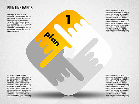 Pointing Hands, Slide 5, 01850, Stage Diagrams — PoweredTemplate.com