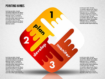 Pointing Hands, Slide 7, 01850, Stage Diagrams — PoweredTemplate.com