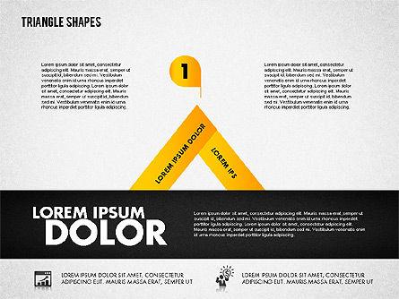 Triangle Shapes Diagram, Slide 3, 01851, Business Models — PoweredTemplate.com