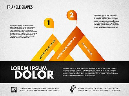 Triangle Shapes Diagram, Slide 4, 01851, Business Models — PoweredTemplate.com