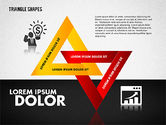 Business Models: Triangle Shapes Diagram #01851