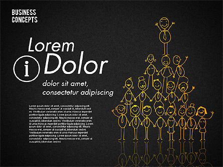 Stickman Collection, Slide 12, 01854, Shapes — PoweredTemplate.com