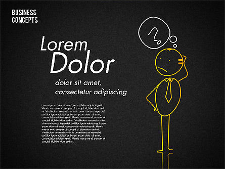 Stickman Collection, Slide 16, 01854, Shapes — PoweredTemplate.com