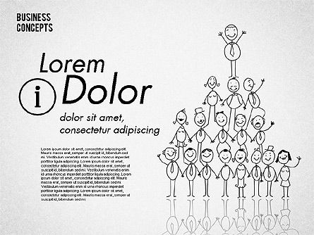 Stickman Collection, Slide 4, 01854, Shapes — PoweredTemplate.com