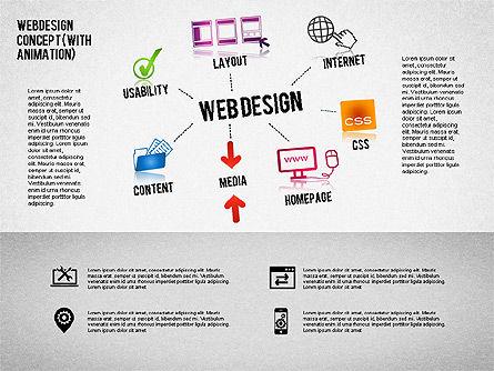 Webdesign Concept Diagram (with animation) , Slide 2, 01855, Business Models — PoweredTemplate.com