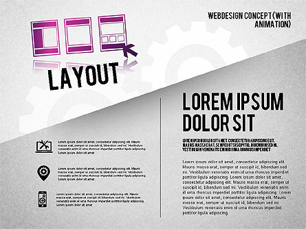 Webdesign Concept Diagram (with animation) , Slide 3, 01855, Business Models — PoweredTemplate.com