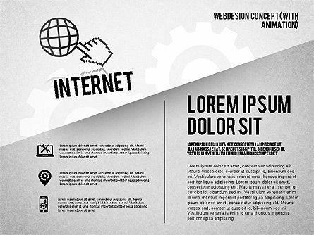 Webdesign Concept Diagram (with animation) , Slide 4, 01855, Business Models — PoweredTemplate.com