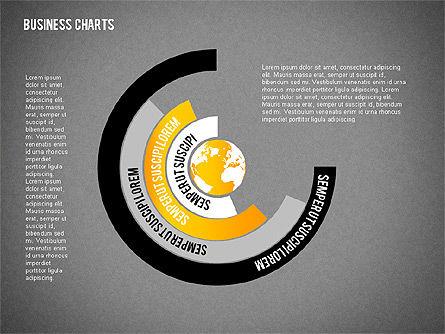 Chart with Globe, Slide 11, 01858, Business Models — PoweredTemplate.com