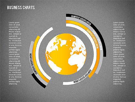 Chart with Globe, Slide 12, 01858, Business Models — PoweredTemplate.com