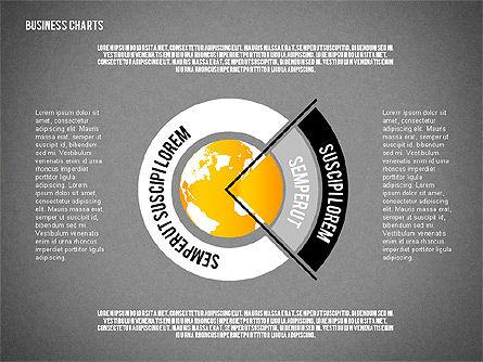 Chart with Globe, Slide 13, 01858, Business Models — PoweredTemplate.com
