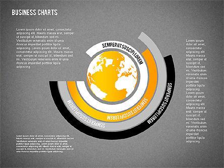 Chart with Globe, Slide 15, 01858, Business Models — PoweredTemplate.com