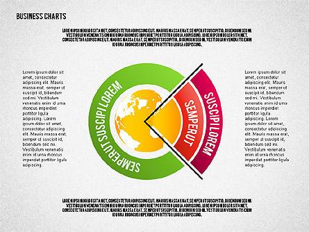 Chart with Globe, Slide 5, 01858, Business Models — PoweredTemplate.com