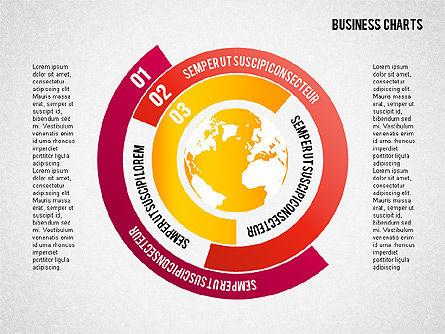 Chart with Globe, Slide 6, 01858, Business Models — PoweredTemplate.com
