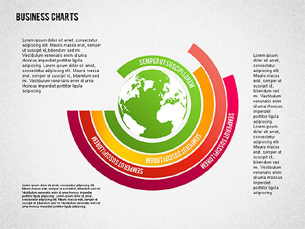 Chart with Globe, Slide 7, 01858, Business Models — PoweredTemplate.com