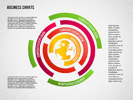 Chart with Globe, Slide 8, 01858, Business Models — PoweredTemplate.com