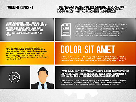 Winning Concept Presentation, Slide 4, 01860, Presentation Templates — PoweredTemplate.com